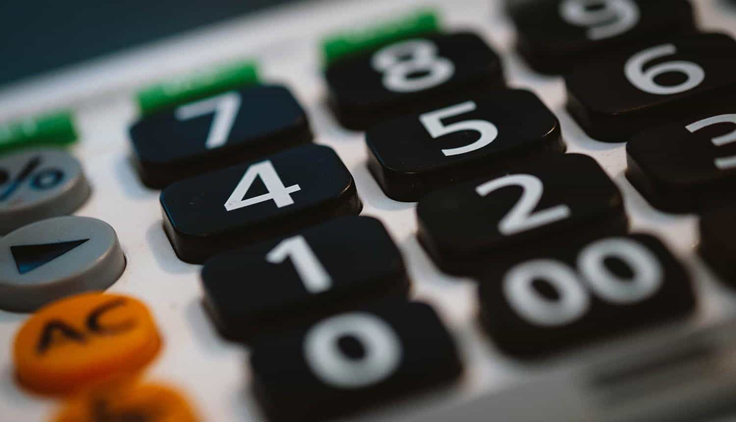 Image of calculator representing accountability as a data protection and privacy principle