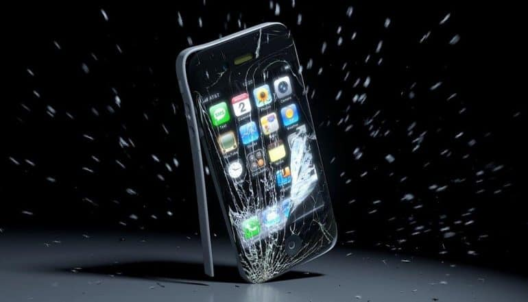 Image of smashed iPhone representing the recent U.S. vs Apple case