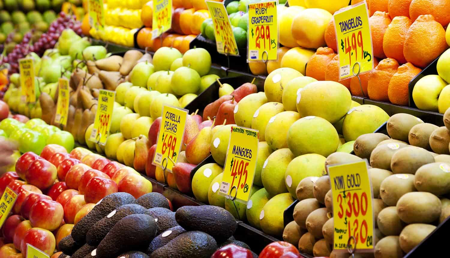 Image of a fruit market representing the idea of who owns my data and whether data can be sold