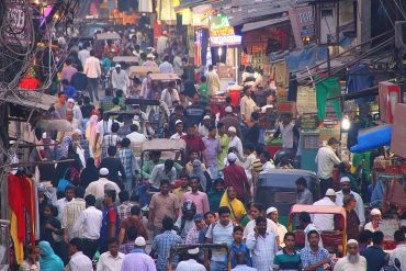 Image of crowded street in India representing data protection and data privacy laws