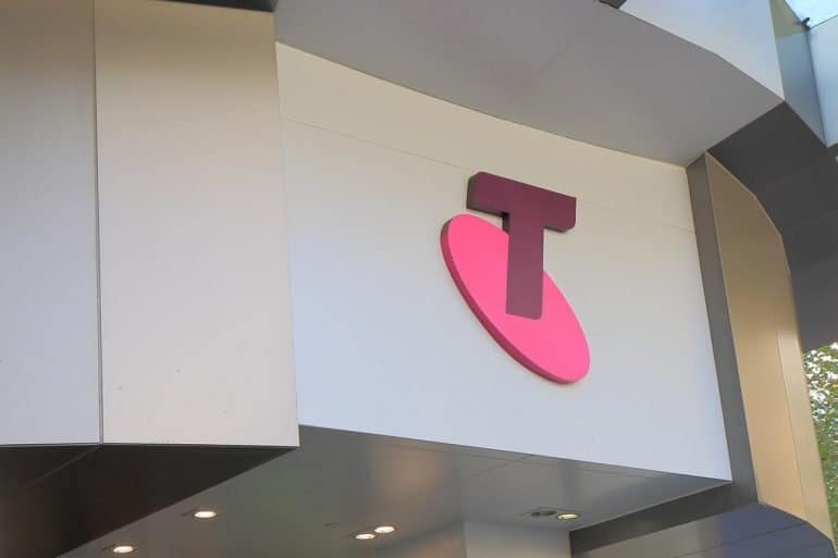 Image of the Telstra logo on shop front representing how the court rejected the Autralian Privacy Commissioner's position on metadata
