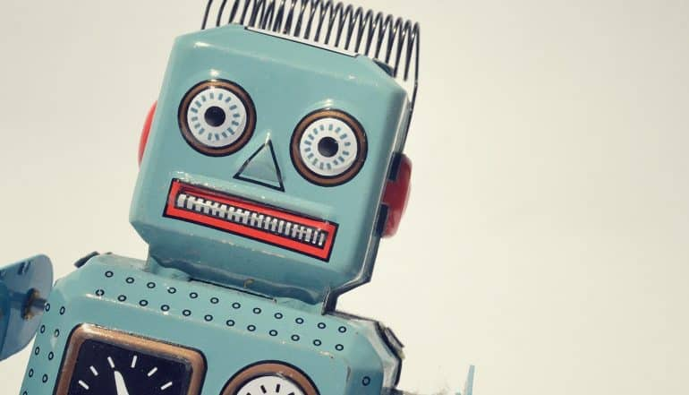 Image of angry robot representing the question of whether data protection laws will impact artificial intelligence