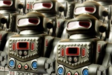 Image of robot army representing an Android botnet