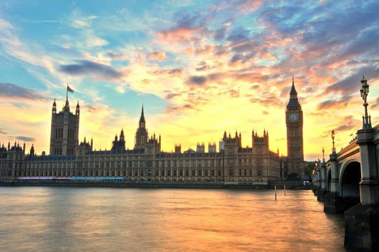 Image of UK parliament building representing how the UK wants to keep EU happy with new data protection law
