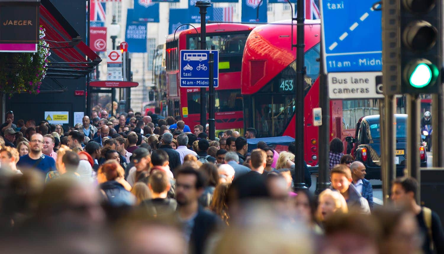 Image of crowded street with blurred faces signifying how data anonymization and pseudonymization should work under the EU GDPR