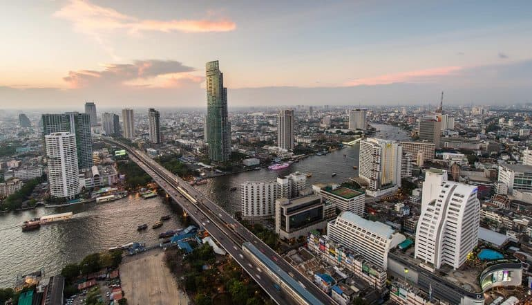Image of Thailand skyline representing the impact of electronic marketing with the new computer crime act