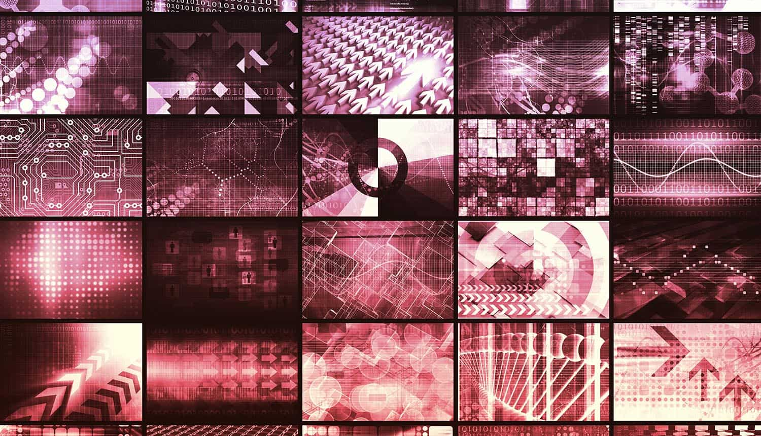Image of multiple screens representing internet surveillance from Pentagon's leaked database