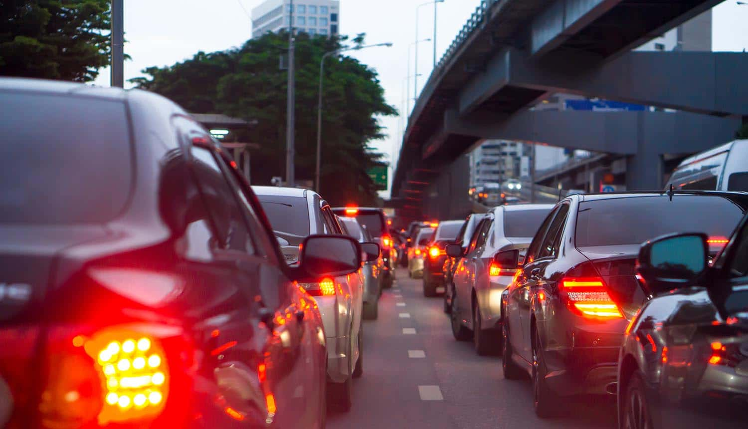 Image of cars in a traffic jam representing uber breach and how consumers will ever learn or care