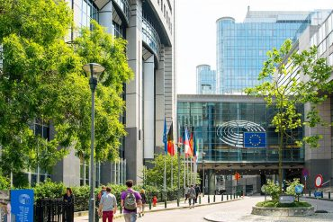 Image of European Union building representing considerations of EU GDPR for political parties, NGOs and community organizations