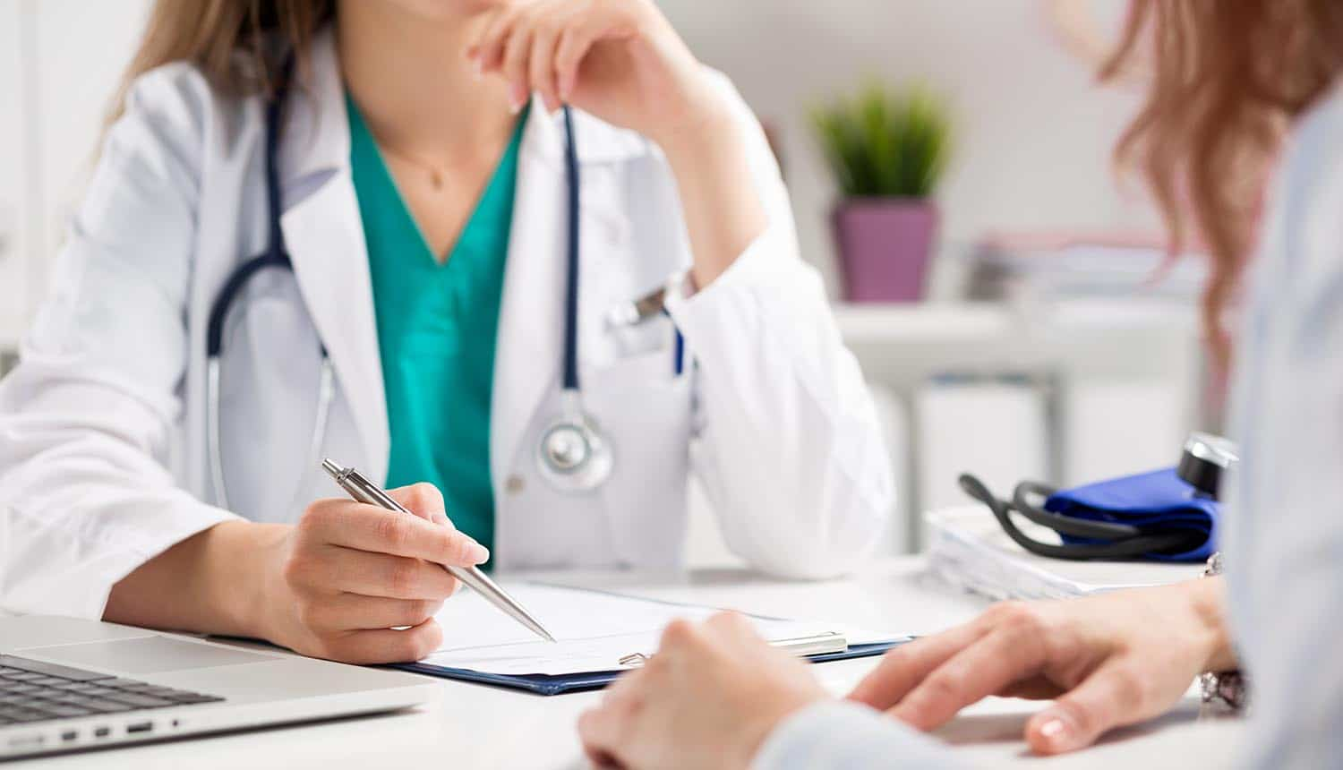 Image showing doctor speaking to patient