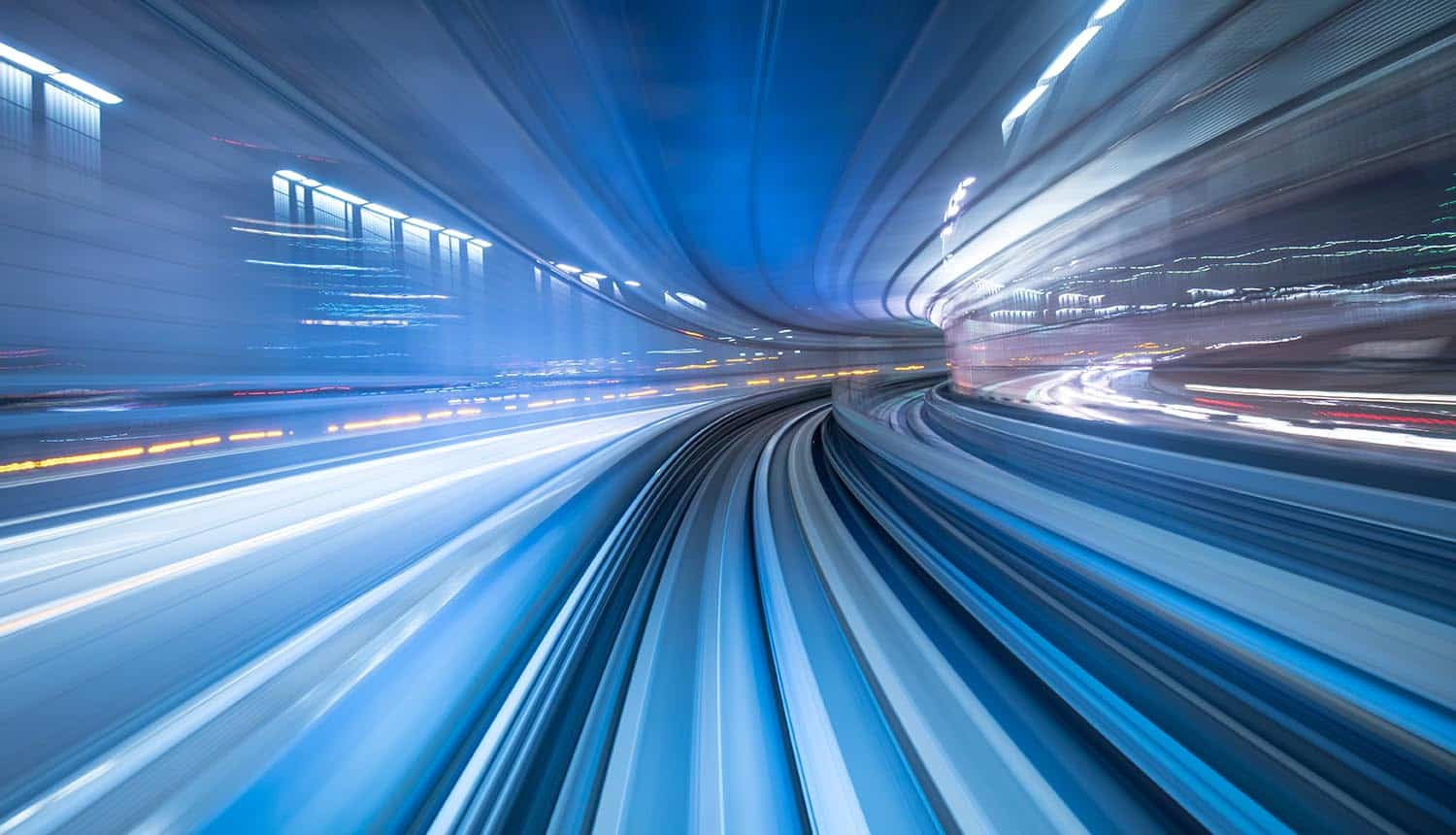 Image of speeding through a tunnel signifying the passage of time and what's changed and what hasn't in addressing privacy