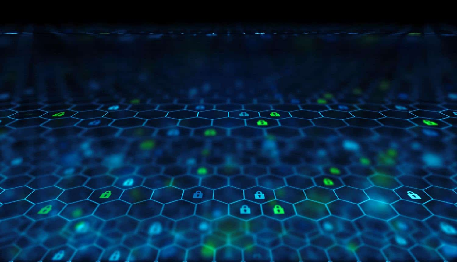 Image of locks in a connected chain signifying the impact of blockchain technology on the future of cyber security