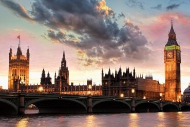 Image of UK parliament building signifying the ICO levying fines for spam and data breaches