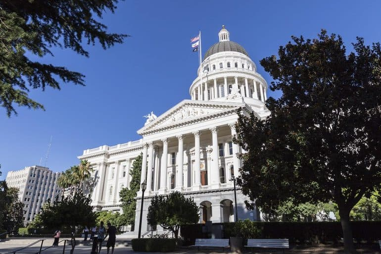 The California State Capitol Building in Sacramento passing new law to make weak passwords for connected devices illegal