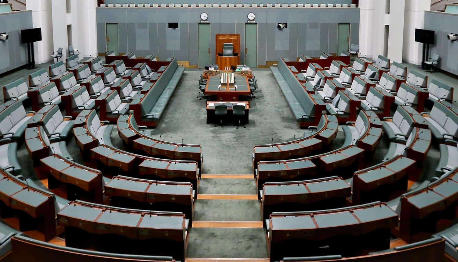 House of Representatives at Australia's Parliament House passing controversial encryption laws