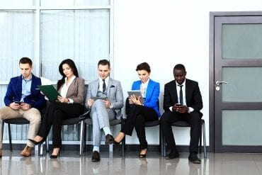 Cybersecurity talent waiting for job interview as part of hiring process