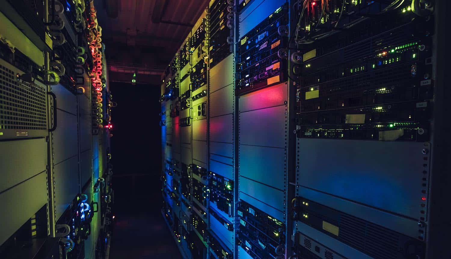 View of servers in the data center showing need for machine identity protection to counter insider threats