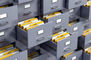 File cabinet showing breached accounts consisting of usernames and passwords