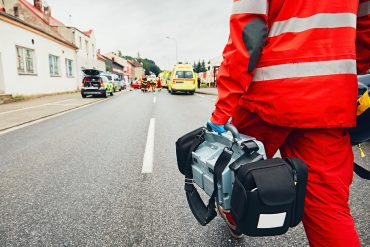 Emergency medical service team responding to an incident showing privacy nightmare of location data