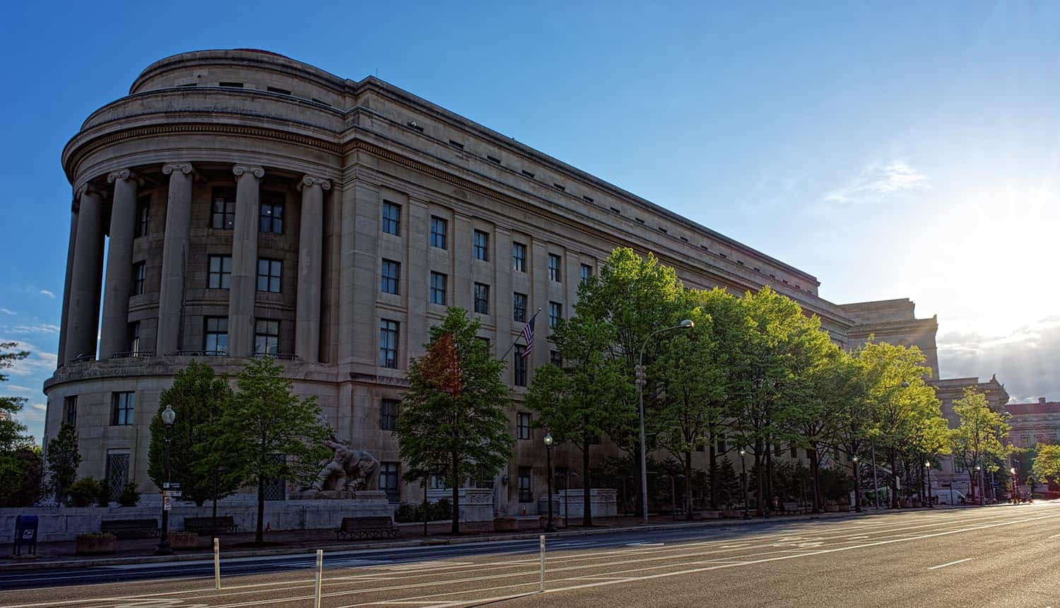 Exterior photo of FTC building showing how the FTC Facebook investigation might hold Mark Zuckerberg personally accountable for privacy issues