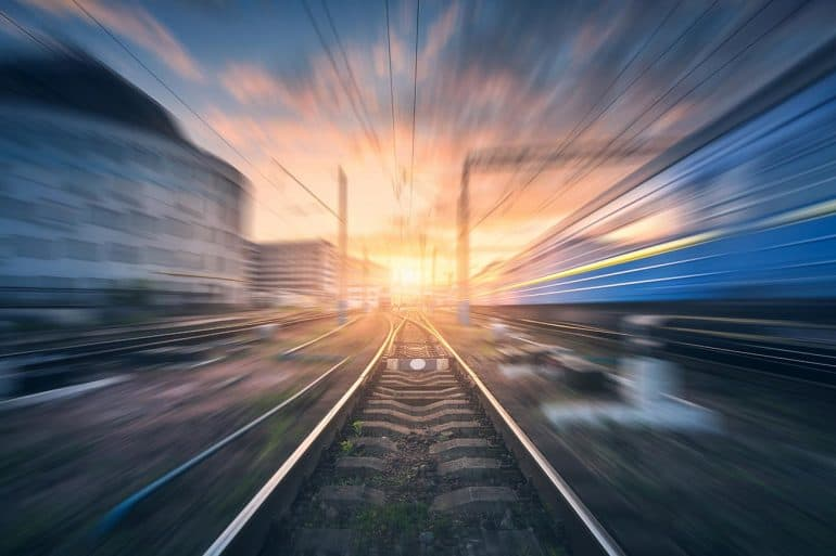 Blurred image of railroad showing the frightening speed for automated hacking of default credentials as tested through honeypots