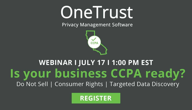 OneTrust - CCPA Webinar