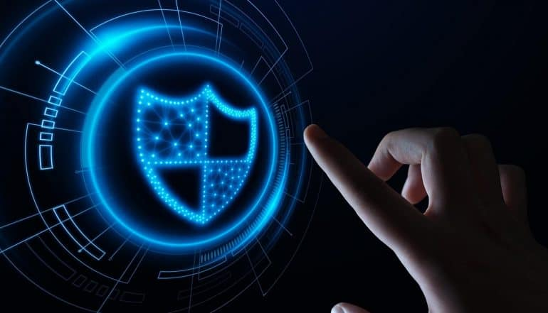 Data protection logo showing the ways to prepare your business for cyber threats