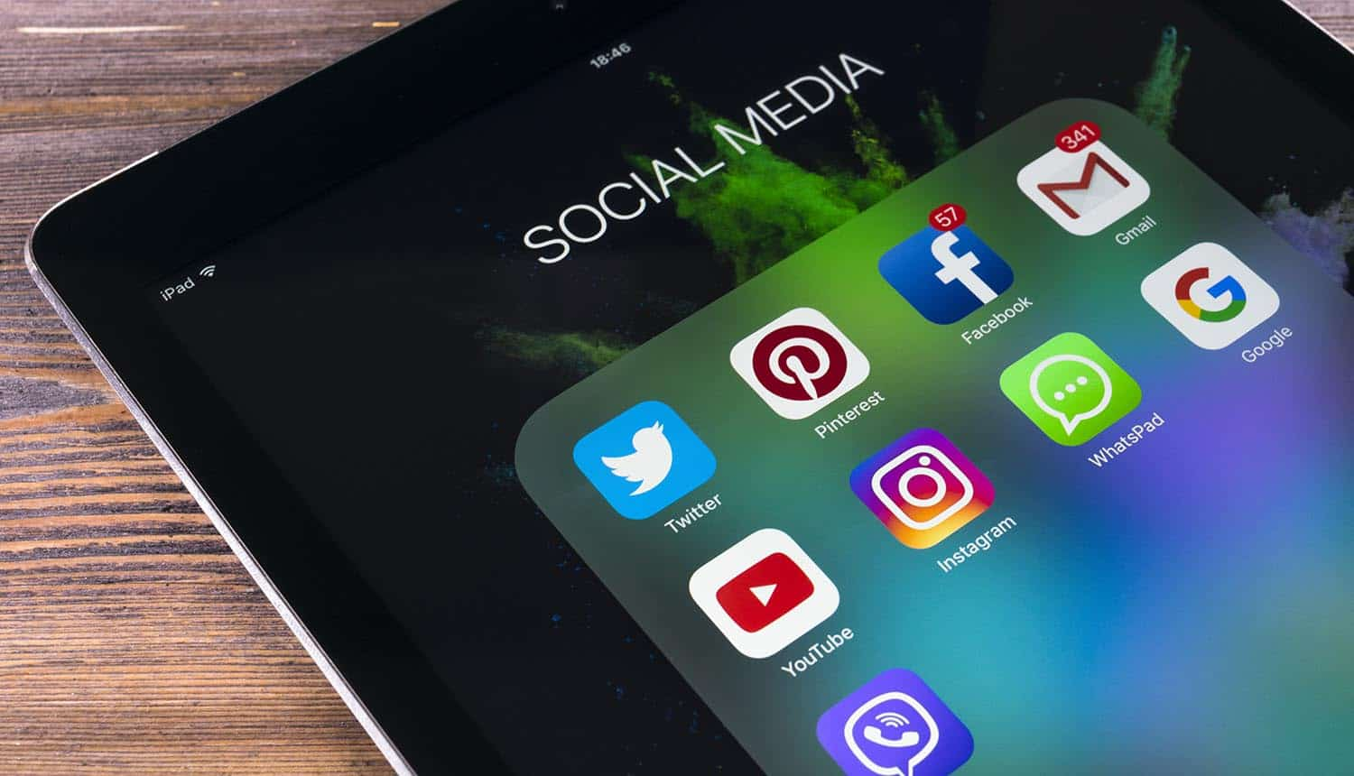 Social media applications on mobile phone showing social media platforms are the core problem to online trust