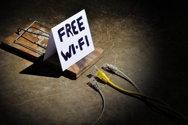 Mousetrap showing the dangers of free public Wi-fi