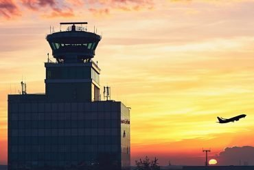 Air Traffic Control Tower at the airport showing British Airways facing the highest record of GDPR fines at proposed value of £183 million