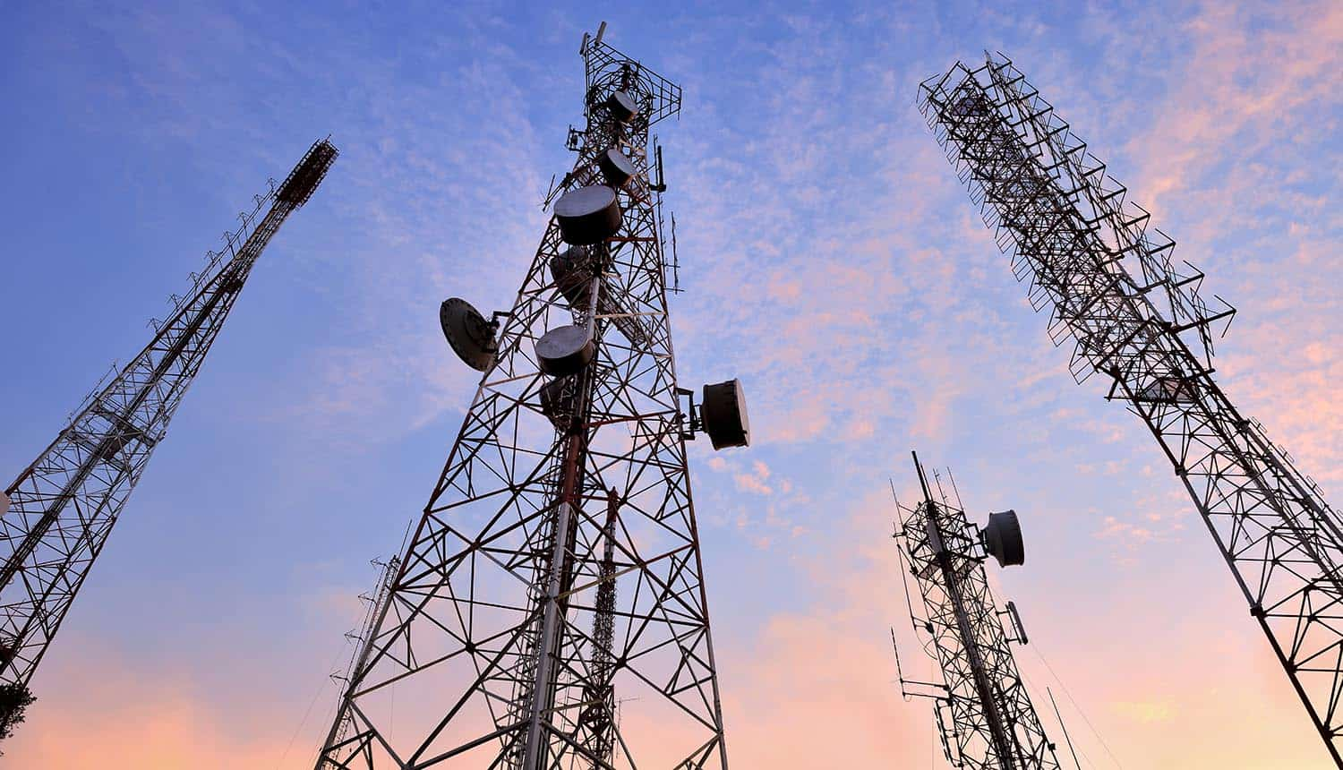 Picture of telecommunication tower showing cyber espionage by Chinese hackers through data breach at global telecoms