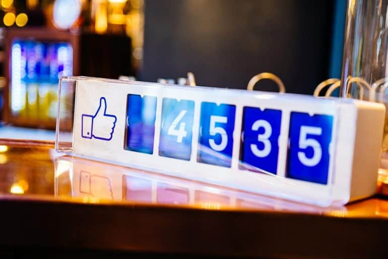 """Facebook """"likes"""" device counter on table showing how the recent EU court ruling on Facebook 'like' button could have huge implications for websites"""