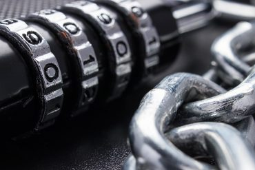 Lock and chain showing the use of VPN to boost data privacy