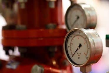 Manometers and pump for fire extinguishing system. showing concerns over industrial control systems