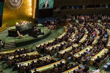 People sitting in conference hall showing cyber governance issues take on high-profile status at the United Nations