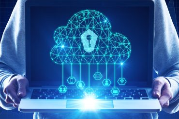 Keyhole on cloud icon showing cloud safety concerns raised over DDoS attack on Amazon web services