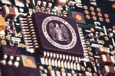 NSA logo on a computer chip showing the FISA court ruling on FBI's improper use of NSA surveillance data to snoop on Americans