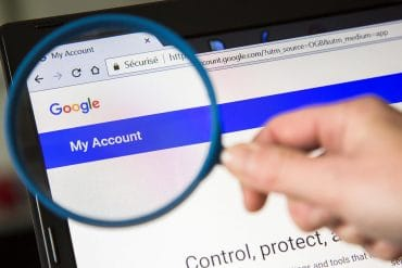 Magnifying glass over Google web page showing recent European Court of Justice ruling that Google does not have to apply 'right to be forgotten' requests worldwide