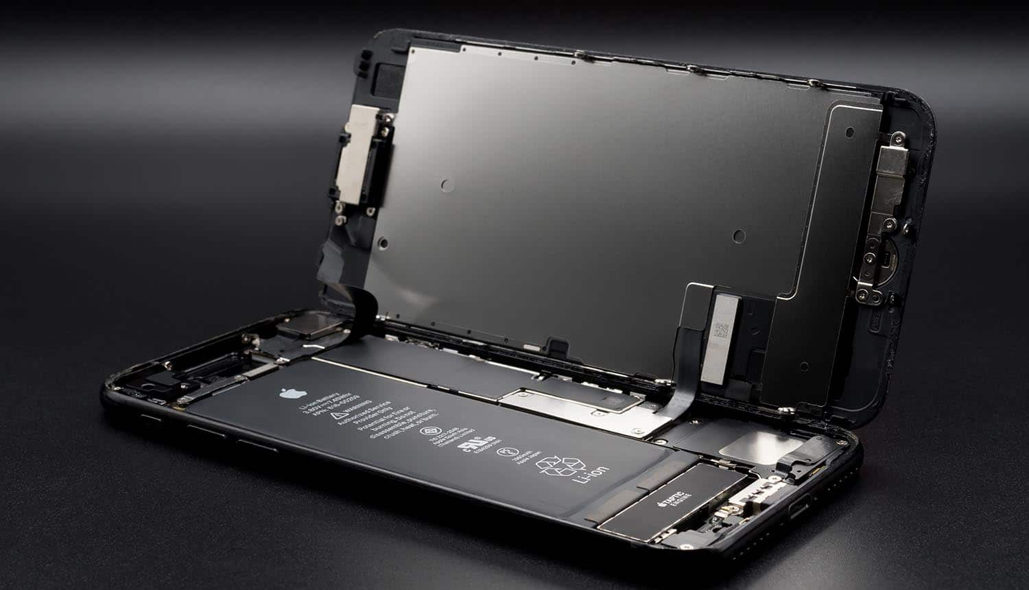 Disassembled iPhone showing the new un-patchable iPhone exploit that allows permanent jailbreak