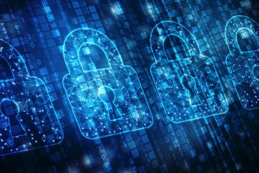 Padlock icons on digital screen showing U.S., U.K. and Australia pressing Facebook to abandon end-to-end encryption plans