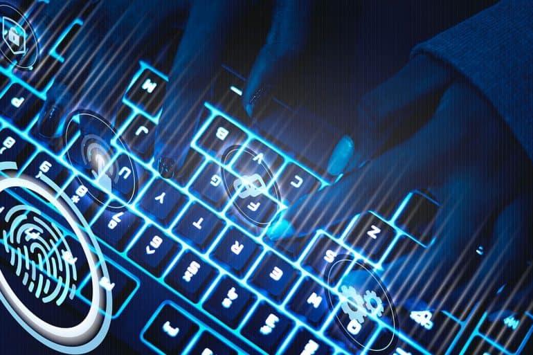 Hacker using keyboard showing cyber espionage targeting Avast