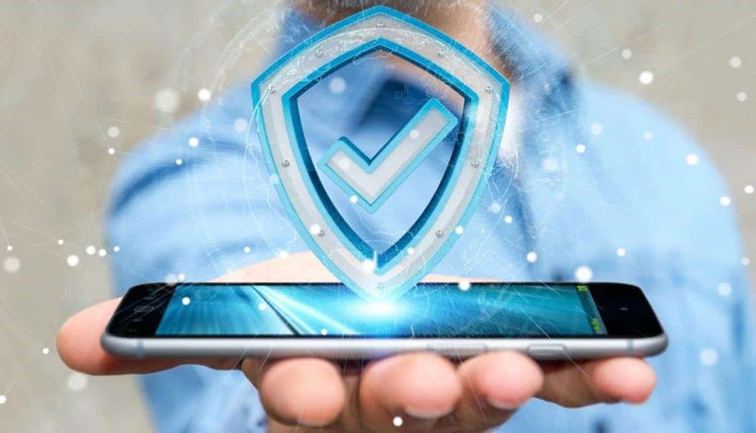 Man holding Android phone showing best antivirus programs