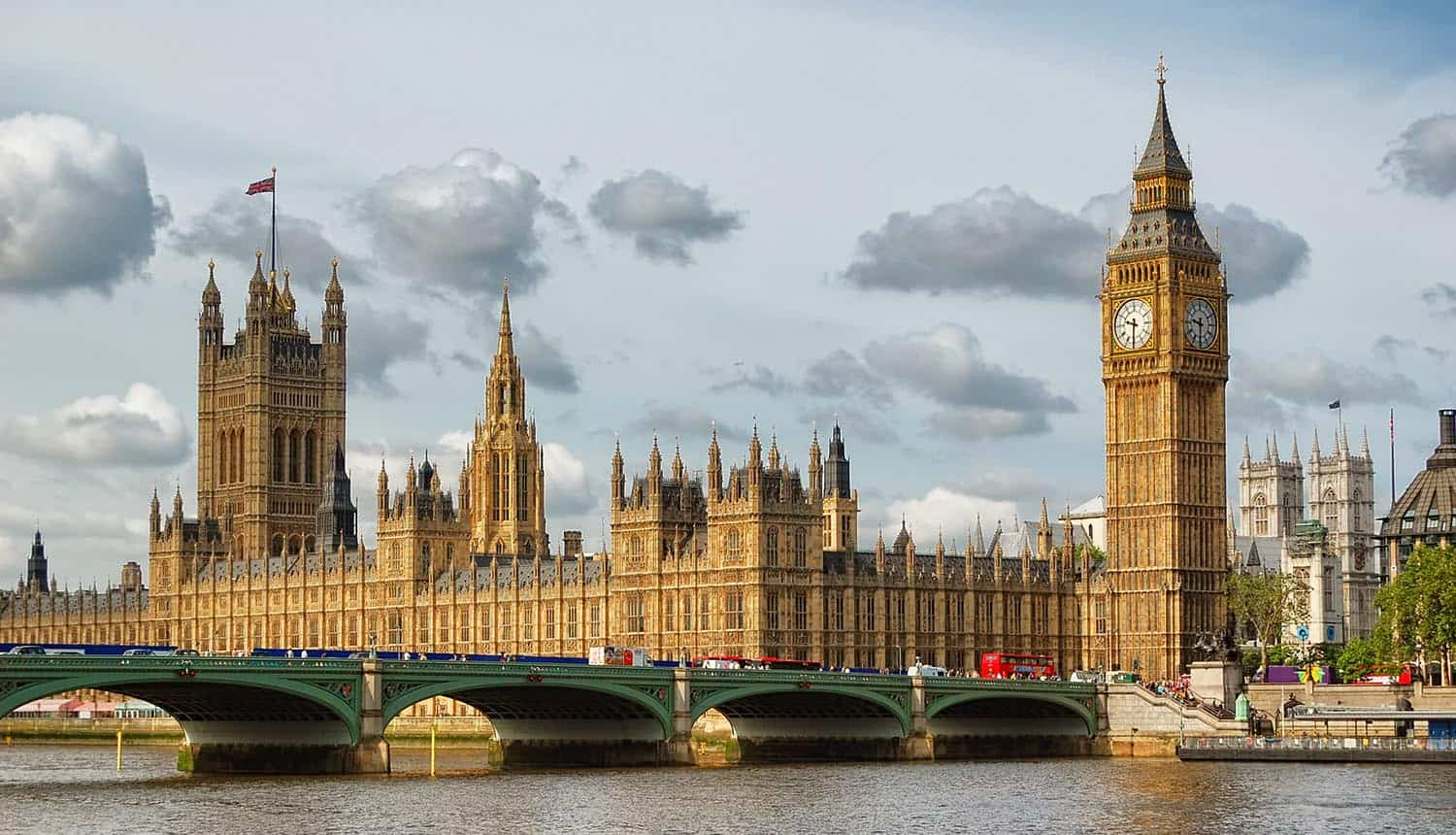 Houses of Parliament and Westminster Bridge in London showing UK data protection watchdog asking for seizure powers