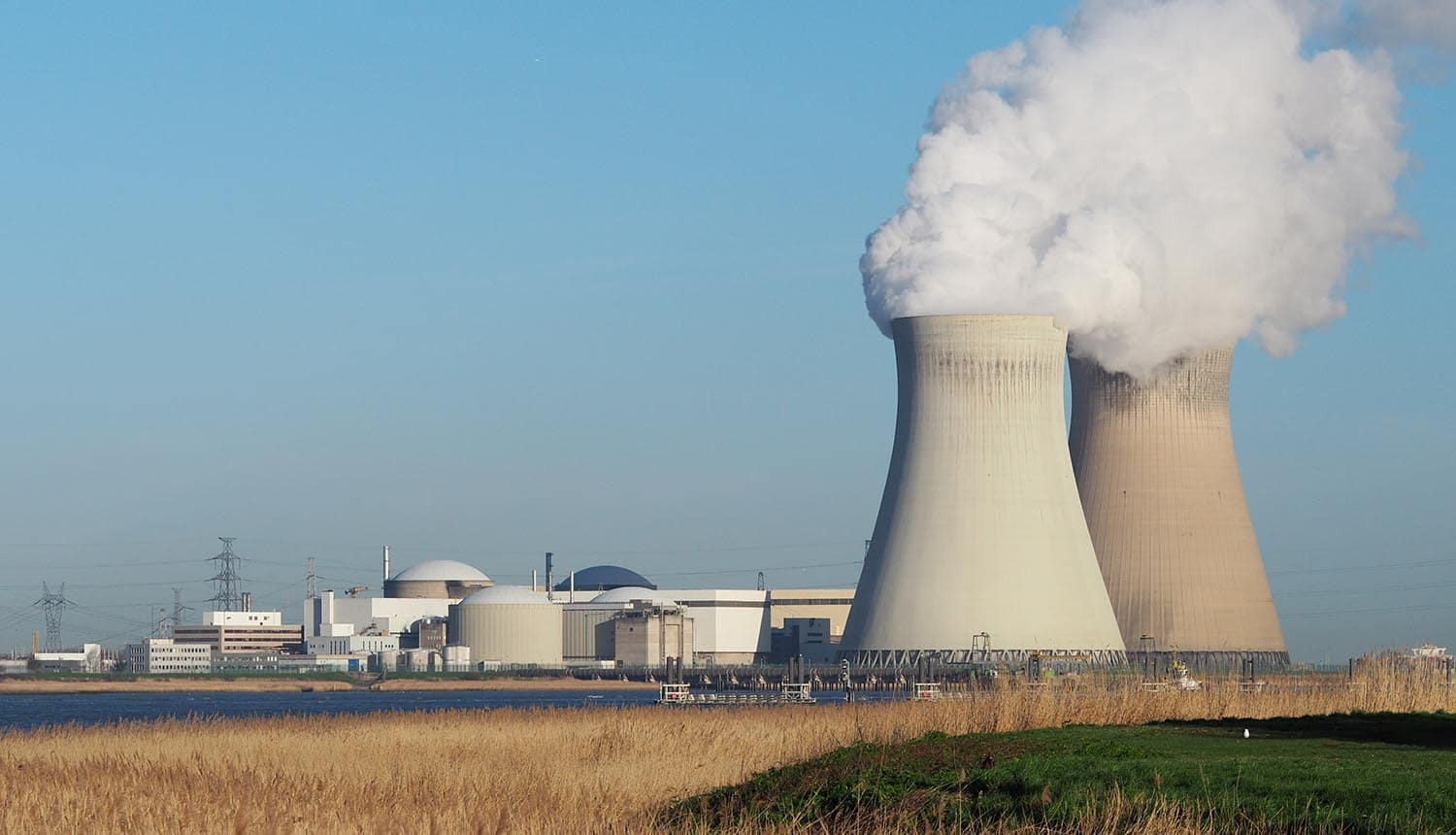 Photo of power plant showing how to keep energy industry safe from cybersecurity threats