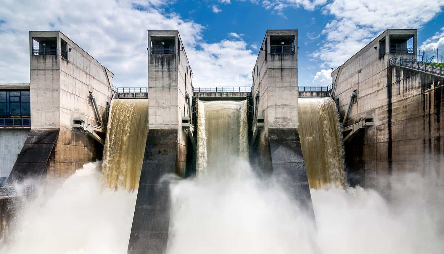 Intense draining of water from dam showing the privacy and security concerns over the massive personal data leak of 1.2 billion people