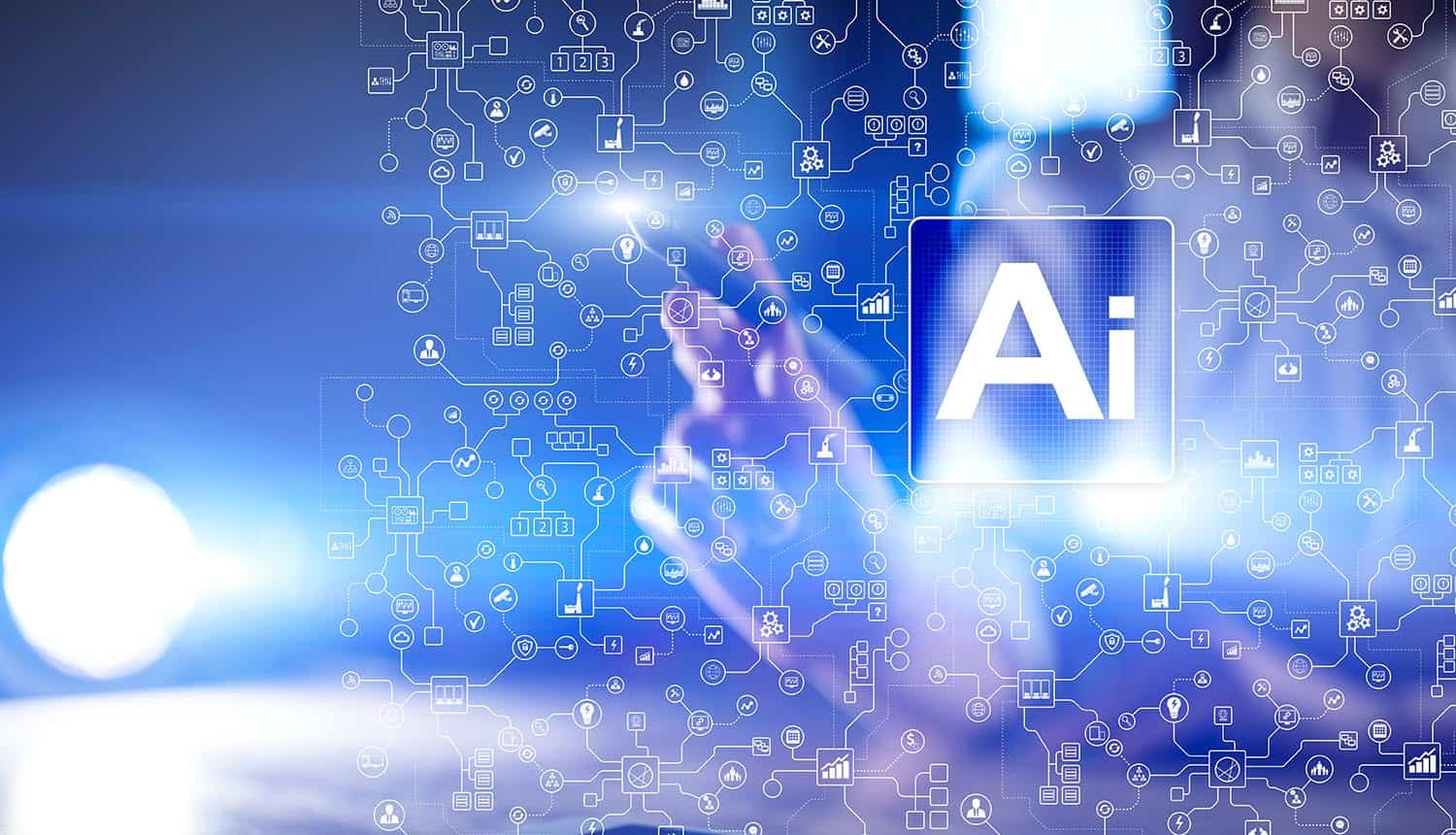 Artificial intelligence and smart technology on virtual screen showing the trend towards the Intelligence of Things