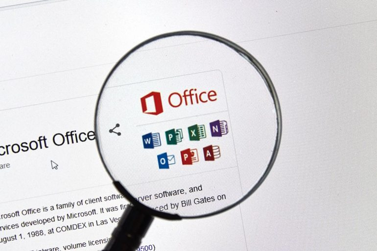 Microsoft Office 365 application icons on computer screen showing how hackers use Microsoft OAuth apps in new phishing attack
