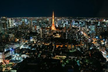 Night view of Tokyo tower showing the state-backed cyber attacks expected at Tokyo 2020 games