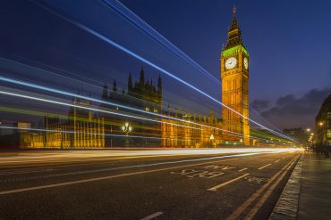 Night view of London's Big Ben showing the concerns over Big Tech's chokehold on digital advertising raised by U.K. regulator