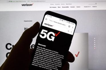 Verizon 5G official web page showing roll out of 20 5G devices